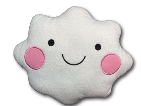 Cute Kawaii Smile Face Cloud Cushion Pillow Plush Nap White Soft Bolster