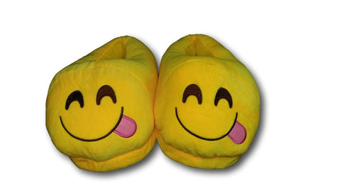 Glutton Unisex Emoji Plush Home Indoor Pair Slippers Soft Comfy Shoes