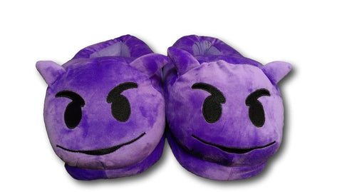 Devil Unisex Emoji Plush Home Indoor Pair Slippers Soft Comfy Shoes