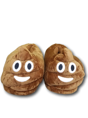 Poop Unisex Emoji Plush Home Indoor Pair Slippers Soft Comfy Shoes