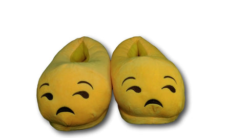 Unamused Unisex Emoji Plush Home Indoor Pair Slippers Soft Comfy Shoes