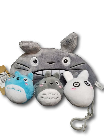 MINI Ghibli Neighbor Totoro Gray Plush Pillow Cushion Fashion Costume Soft Furry 3in1