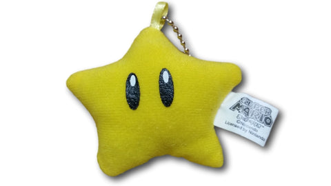 Super Mario Bros Star Stuffed Toy Strap 6cm Yellow