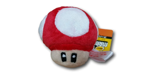 2.5in Super Mario Bros Mushroom Keychain Plush Doll Toy Nintendo Red