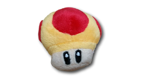 2.5in Super Mario Bros Mushroom Keychain Plush Doll Toy Nintendo Orange