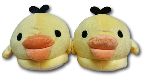 Yellow Fluffy Rilakkuma Chicken Indoor Slippers Non Slip Soft Animal Shoes