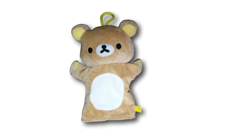 New Super Cute Rilakkuma San X Bear Kids Children Plush Hand Puppet Toy