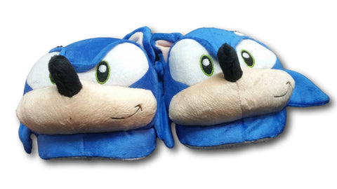 Sonic The Hedgehog Plush Adult Indoor Slippers Shoes Blue