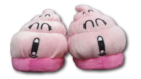Dr.Slump Japan Anime Pink Poop Plush Slippers Shoes Household