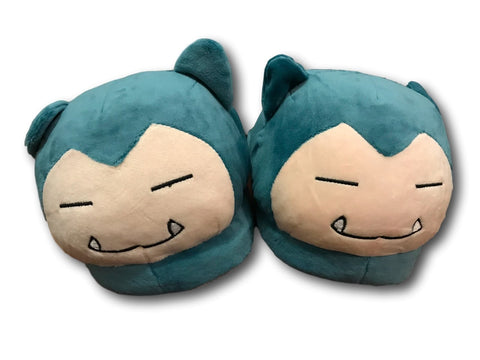 New Pocket Monster Pikachu Pokemon Blue Snorlax Soft Plush Slippers Shoes 28cm