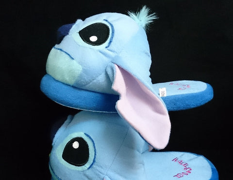 Lilo and Stitch Stitch Carton Cosplay Adult Soft Plush Rave Shoes Slippers 11""