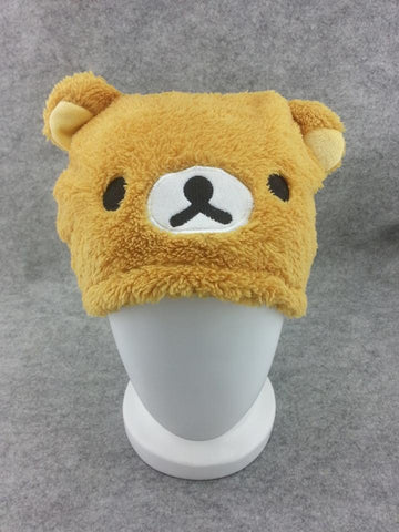 Rilakkuma Bear Cosplay Adult Plush Rave Figure Hat Cap Warm Cartoon 2