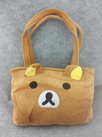 Rilakkuma Bear Cute Kawaii Anime Animal Furry Plush HandBag T1