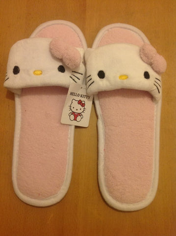 Hello Kitty Kawaii Cuite Cosplay Adult Plush Rave Shoes Doll Slippers Lady Styles