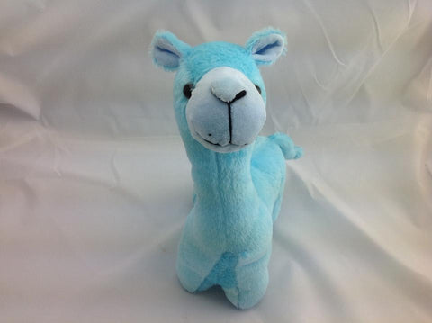 Cuite Kawaii Big Large Alpaca llama Soft Plush Furry beanie Animal Stuffed Toy BLUE 33cm