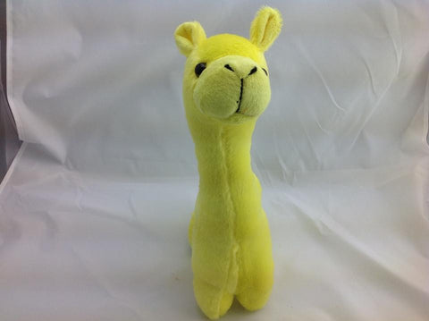 Cuite Kawaii Big Large Alpaca llama Soft Plush Furry beanie Animal Stuffed Toy YELLOW 33cm