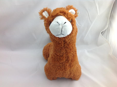 Cuite Kawaii Big Large Alpaca llama Soft Plush Furry beanie Animal Stuffed Toy Brown Long Hair 33cm