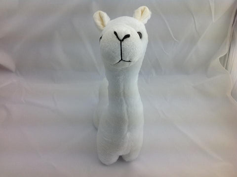 Cuite Kawaii Big Large Alpaca llama Soft Plush Furry beanie Animal Stuffed Toy WHITE short Hair 33cm