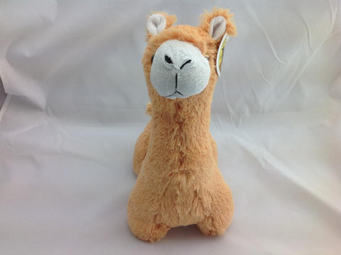 Cuite Kawaii Big Large Alpaca llama Soft Plush Furry beanie Animal Stuffed Toy Brown Short Hair 33cm