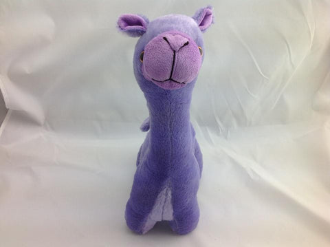 Cuite Kawaii Big Large Alpaca llama Soft Plush Furry beanie Animal Stuffed Toy Purple  33cm