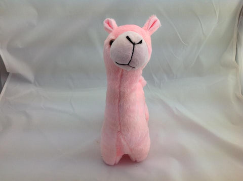 Cuite Kawaii Big Large Alpaca llama Soft Plush Furry beanie Animal Stuffed Toy Pink 33cm
