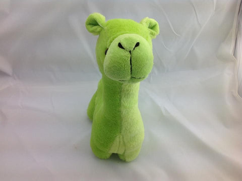 Cuite Kawaii Big Large Alpaca llama Soft Plush Furry beanie Animal Stuffed Toy Green 33cm