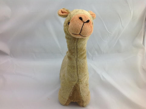 Cuite Kawaii Big Large Alpaca llama Soft Plush Furry beanie Animal Stuffed Toy Dark Brown 33cm
