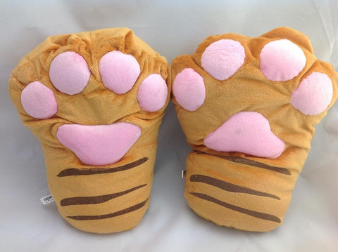 High Quality-Lovely and Cute Costume Tiger Soft  Hand Gloves*Snowboard Keep warm