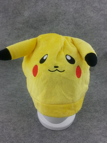 Pocket Monster Cute Kawaii Anime Animal Hat Rave Beanie Cap Furry Plush Cosplay Pikachu type 3