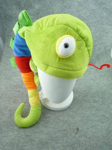 Cute Kawaii Anime Animal Colorful Soft Furry Plush Cosplay Lizard Chameleon Hat