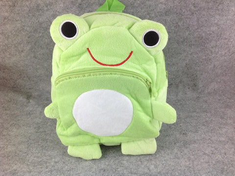 Cute ZOO Animal Soft Plush Frog Children/Baby Toddler Kid School Backpack Bag
