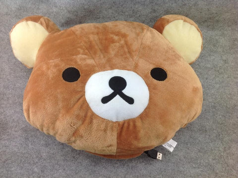 USB Brown Rilakkuma Bear Cosplay Furry Soft Plush Cushion Warming Hand Cover