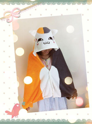 Cute Kawaii Smile Cat Soft Comfortable plush Costume Cloak Shawl Cape Wrap-T6