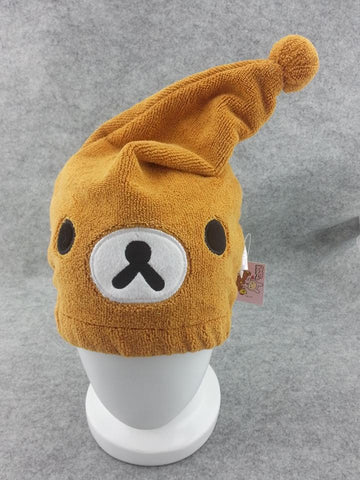 Rilakkuma Bear  Kawaii Anime Animal Hat Rave Beanie Cap Furry Plush Cosplay T3