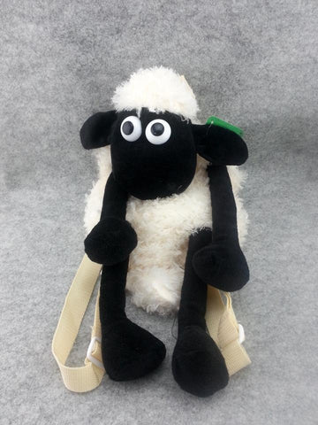 New Shaun The Sheep Cute Kawaii Furry Plush Baby Toddler Kid School Backpack Bag