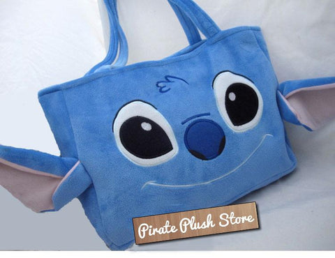 New Lilo and Stitch Cute Kawaii Anime Animal Furry Plush HandBag Shoulder Bag