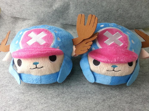 New one piece Chopper Blue Cosplay Adult Soft Plush Rave Shoes Slippers 11""