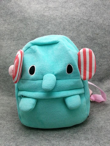 Cute Kawaii Elephant Anime Animal Furry Plush HandBag Backpack Bag School Bag