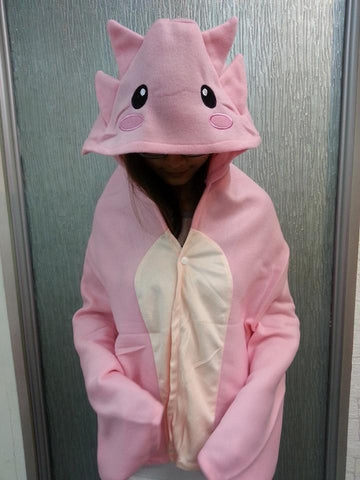 Cute Pikachu Pink Tyrannosaurus Soft plush Costume Cloak Shawl Cape Wrap-T15