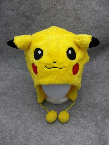 New Pocket Monster Cute Kawaii Anime Hat Rave Cap Furry Plush Cosplay Pikachu 4
