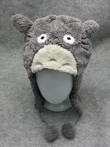 New Totoro Ghibli Cute Kawaii Animal Hat Rave Beanie Cap Furry Plush Cosplay T2
