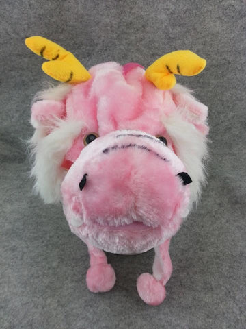 Cute Chinese Legend Animal Pink Dragon Cosplay Costume Soft Warm Lucky Hat