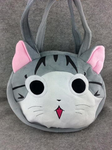 Gary and Pink Cat Cute Kawaii Soft Furry Plush HandBag Backpack Bag School Bag