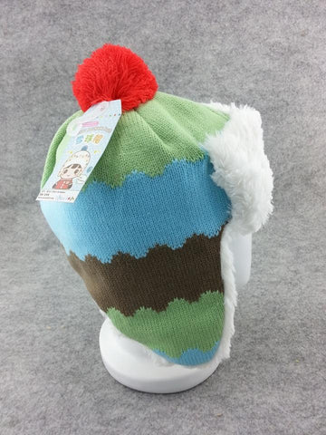 Cute Winter Warm Hat Beanie Cap Soft Plush Cold Weather Knit Warm Ski Hat Type3