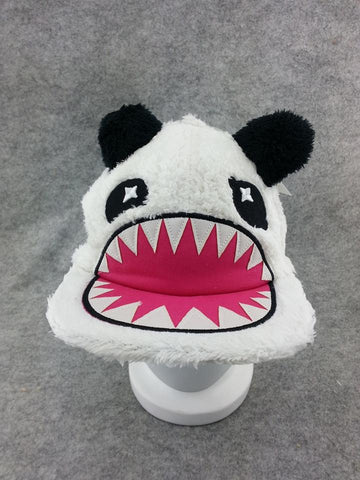 Cute Winter Warm Hat Beanie Cap Soft Plush Cool Panda White Cosplay Cap Type3