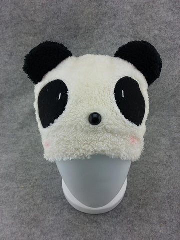 Cute Kawaii Anime Animal Hat Rave Beanie Cap Furry Plush Cosplay Shy Panda hat 3