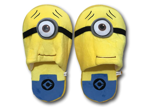 Despicable Me Single Eye Minions Cosplay Adult Soft Plush Rave Shoes Slippers