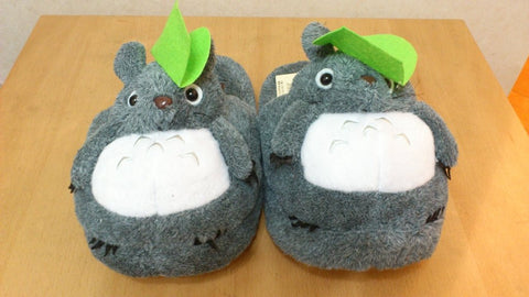 Totoro Ghibli Cosplay Adult Plush Rave Shoes Slippers 11""
