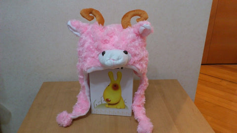 Cute Kawaii Anime Animal Hat Rave Beanie Cap Furry Plush Cosplay Pink Sheep