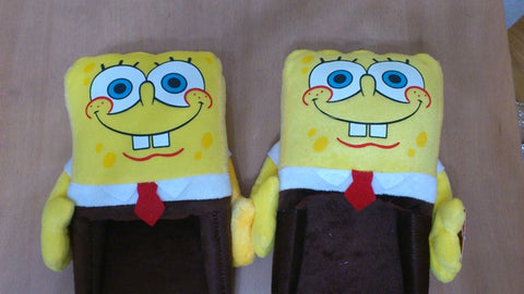 Nickelodeon Spongebob Squarepants Cosplay Adult Plush Rave Shoes Slippers 11""